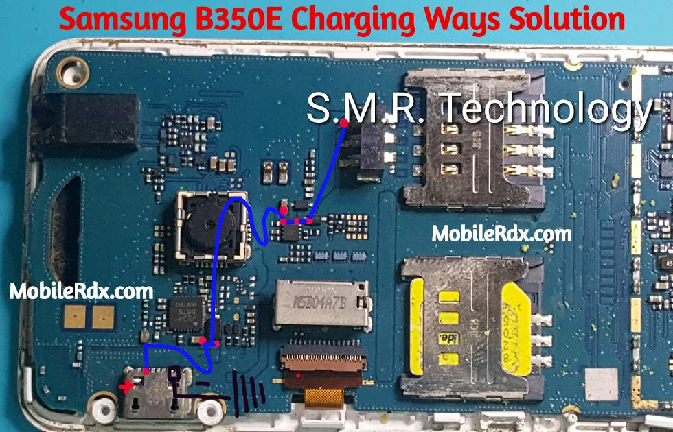 Samsung B350E Charging Ways Charging Problem Jumper Solution