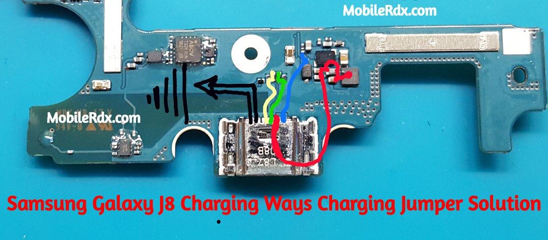 Samsung Galaxy J8 Charging Ways Charging Jumper Solution