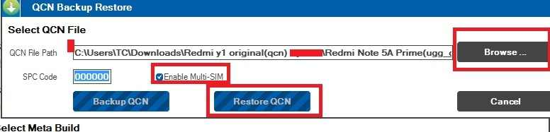 redmi y1 imei reapir using qpst