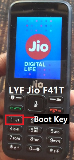LYF Jio F41T Boot key