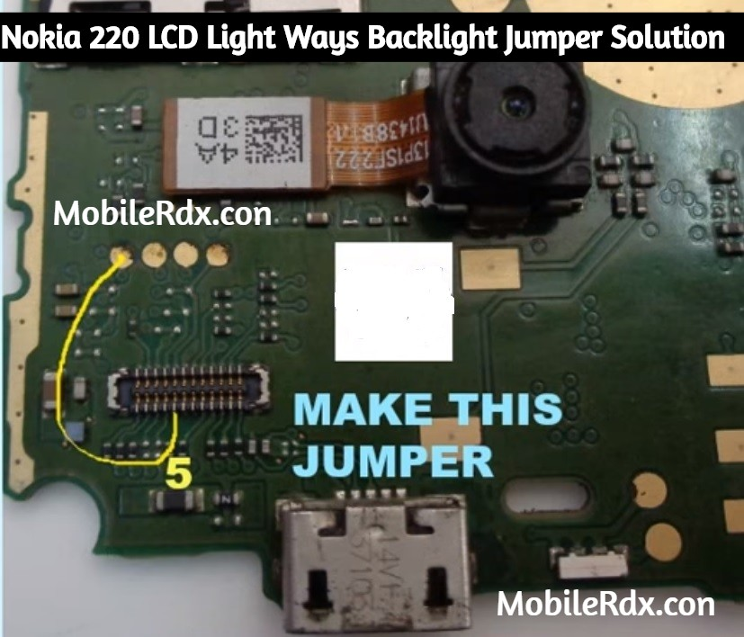 Nokia 220 LCD Light Ways Backlight Jumper Solution