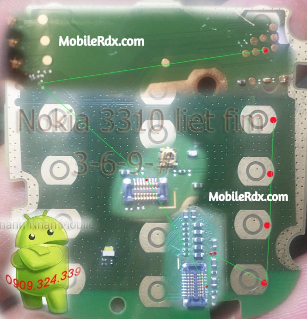 Nokia 3310 2017 369 Button Ways Keypad Jumper Solution