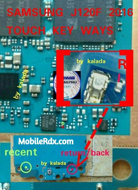 Samsung Galaxy J1 J120F Back Button Ways Back Key Jumper Solution