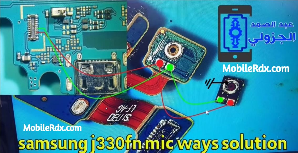 Samsung Galaxy J3 J330FN Mic Ways Mic Problem Jumper Solution