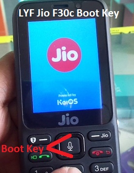 LYF Jio F30c Boot Key