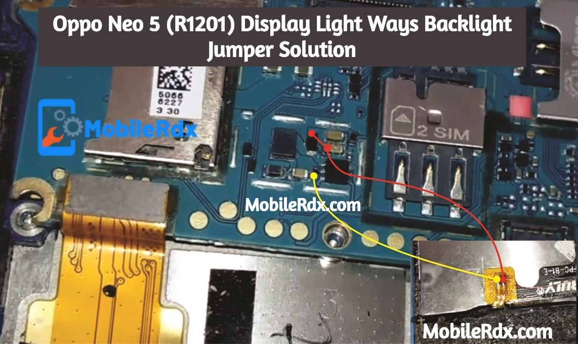 Oppo Neo 5 R1201 Display Light Ways Backlight Jumper Solution