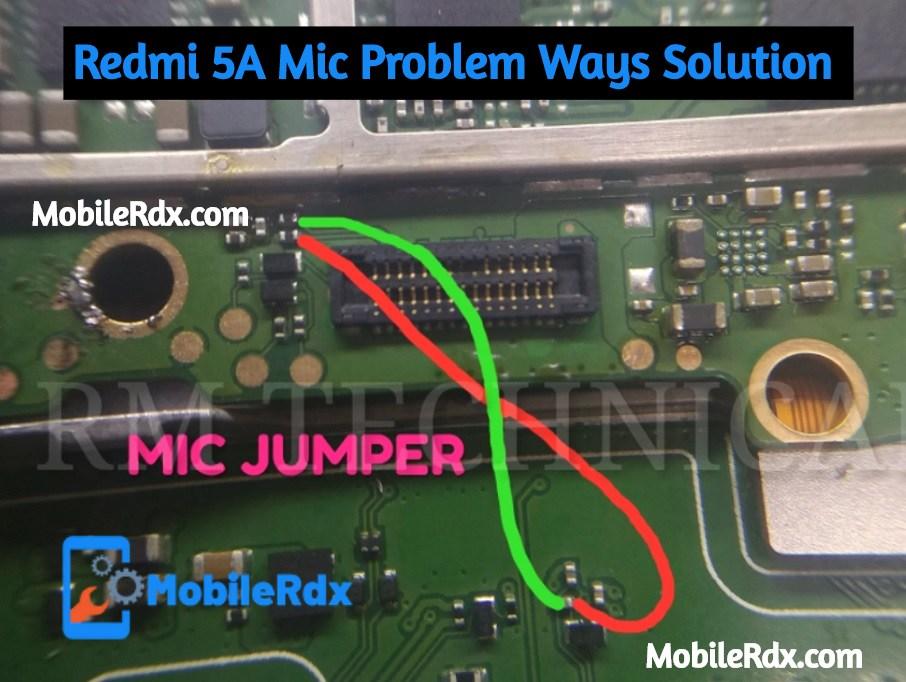 Redmi 5A Mic Ways Mic Problem Jumper Solution