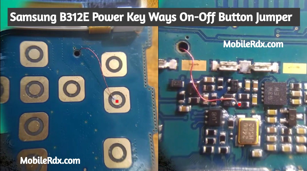Samsung B312E Power Key Ways On Off Button Jumper