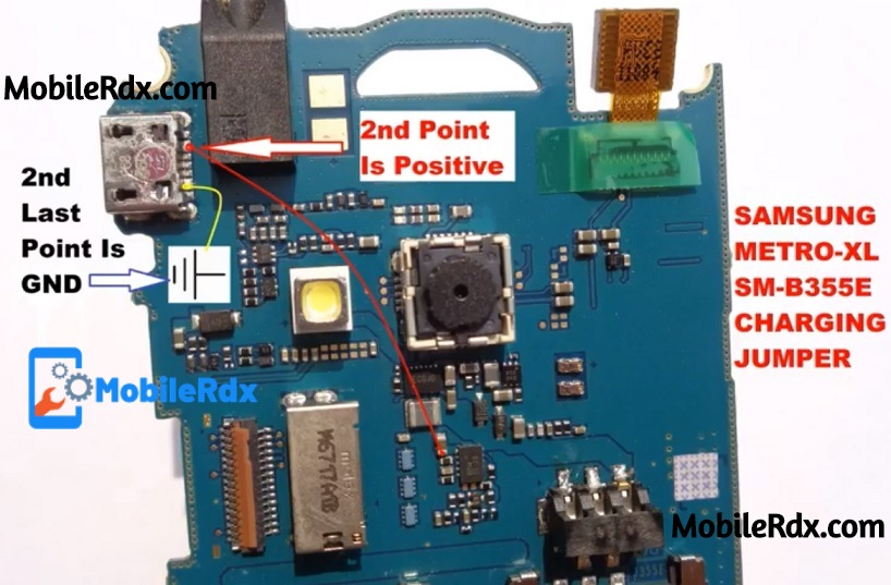 Samsung B355E Charging Ways Not Charging Problem Jumper Solution