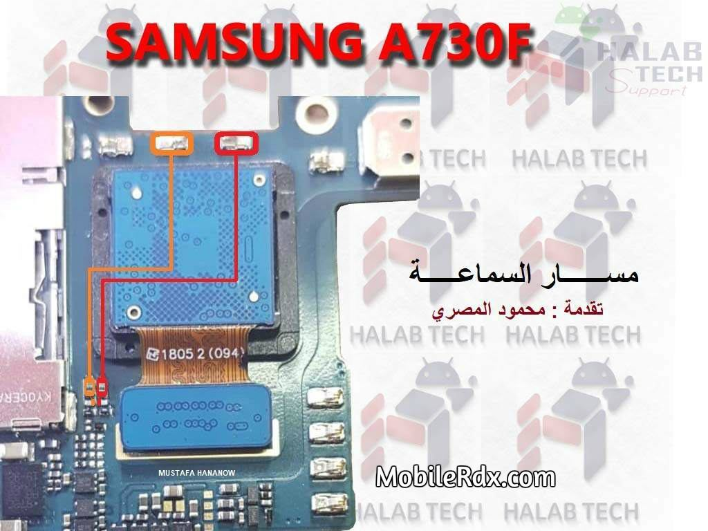 Samsung Galaxy A8 A730F Ear Speaker Ways Earpiece Jumper Solution