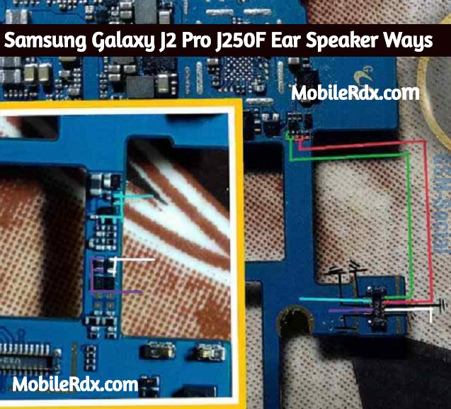 Samsung Galaxy J2 Pro J250F Ear Speaker Ways Earpiece Jumper Solution