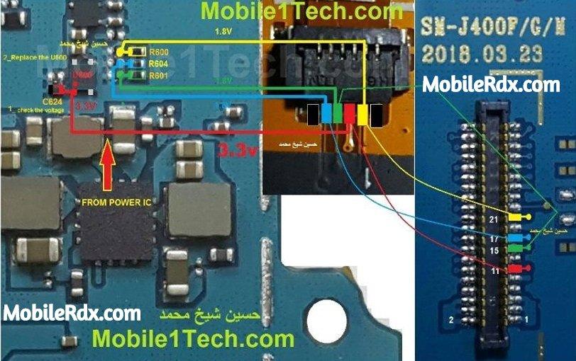 Samsung Galaxy J4 J400F Touch Screen Ways Touchscreen Jumper Solution