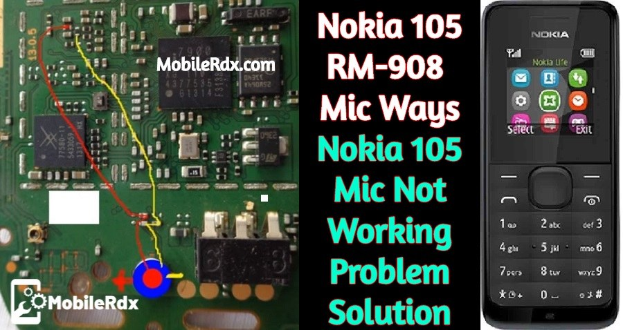 Nokia 105 RM 908 Mic Ways Mic Problem Jumper Solution