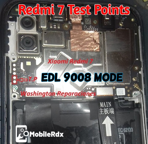 Redmi 7 EDL Mode PINOUT Redmi 7 Test Points
