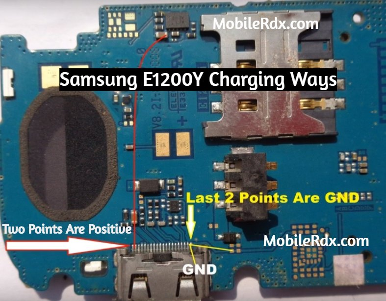 Samsung E1200Y Charging Ways Not Charging Problem Jumper