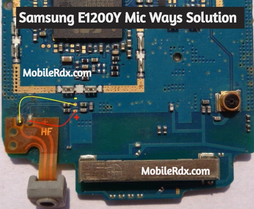 Samsung E1200Y Mic Ways Mic Problem Jumper Solution