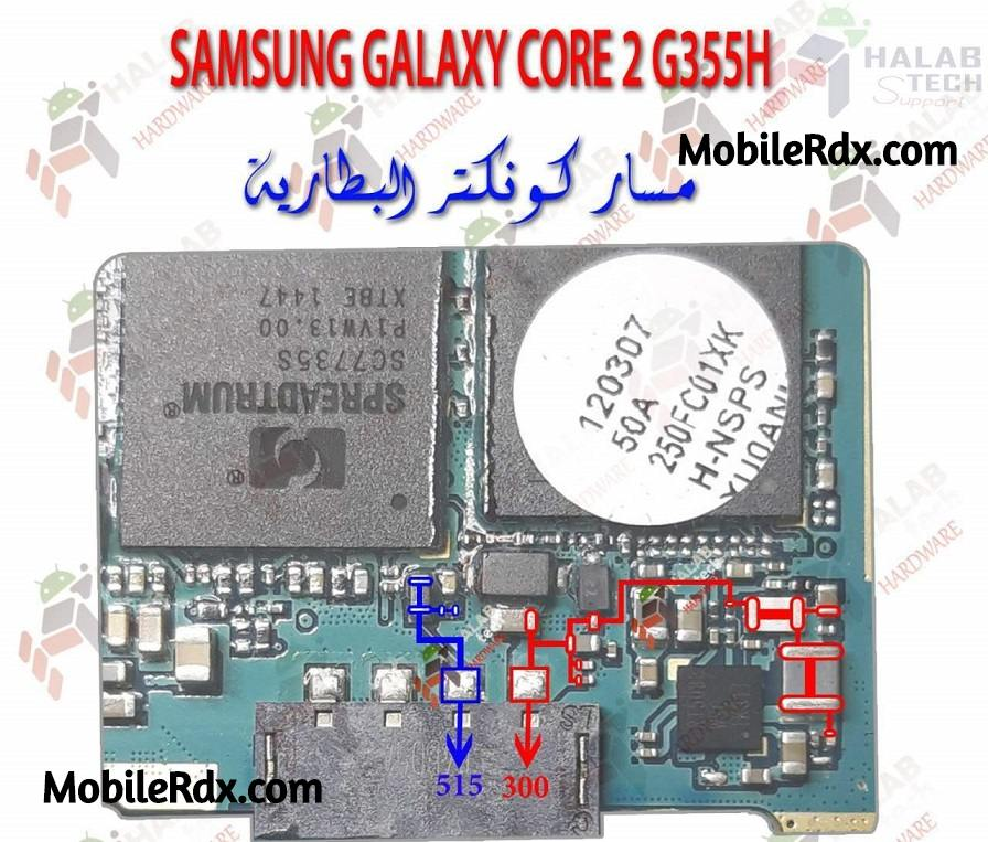Samsung Galaxy Core 2 G355H Battery Connector Ways