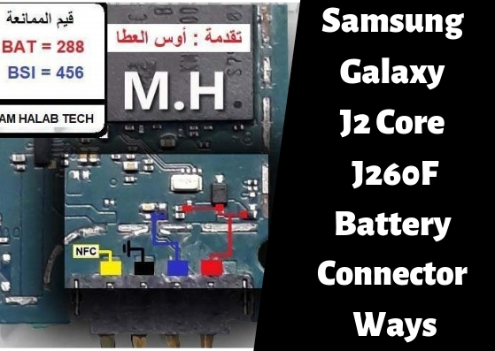 Samsung Galaxy J2 Core J260F Battery Connector Ways
