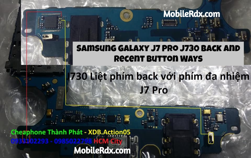 Samsung Galaxy J7 Pro J730G Back And Recent Keys Ways
