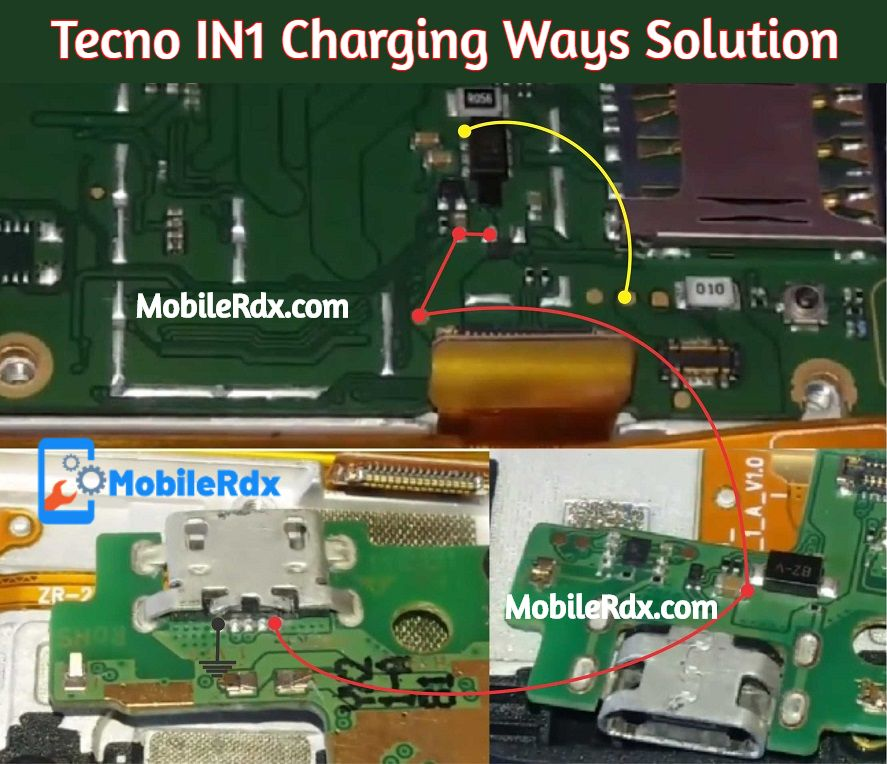 Tecno In1 Charging Ways Charging Problem Jumper Solution
