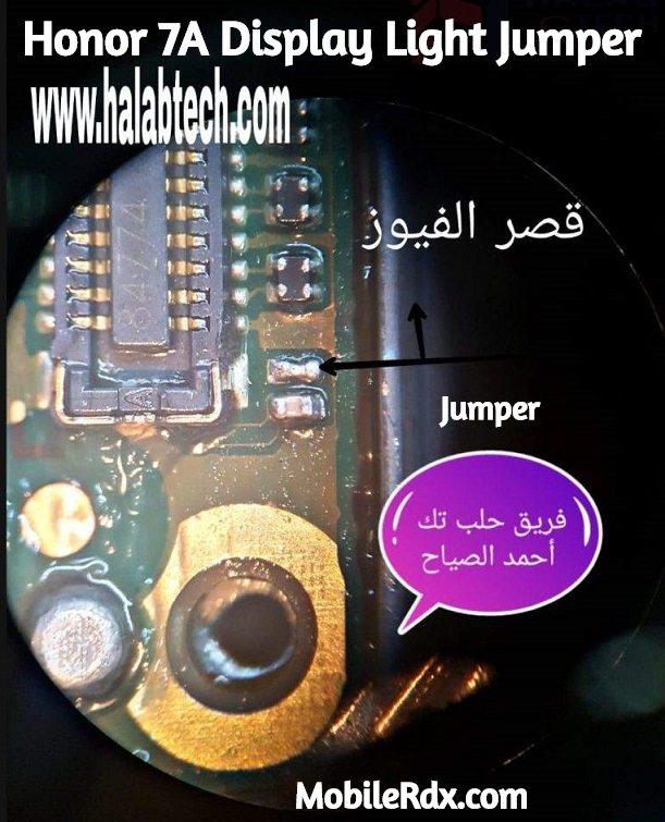 Honor 7A Display Light Ways Backlight Jumper Solution