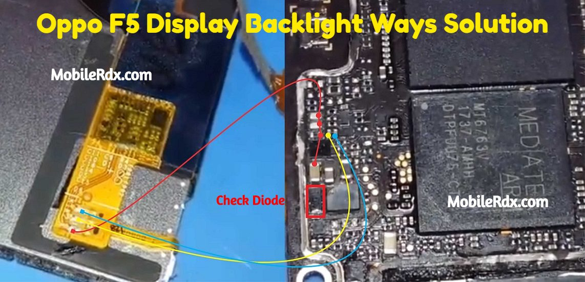 Oppo F5 Display Light Ways Backlight Jumper Solution