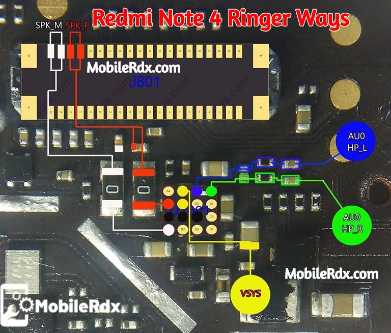 Redmi Note 4 Ringer Ways Speaker Problem Jumper Solution 1
