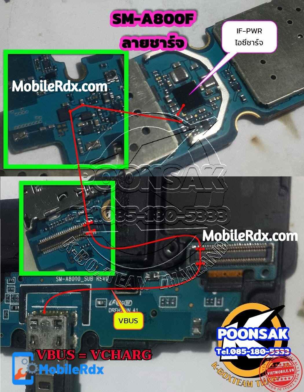Samsung Galaxy A8 A800F Charging Ways Charging Jumper Solution