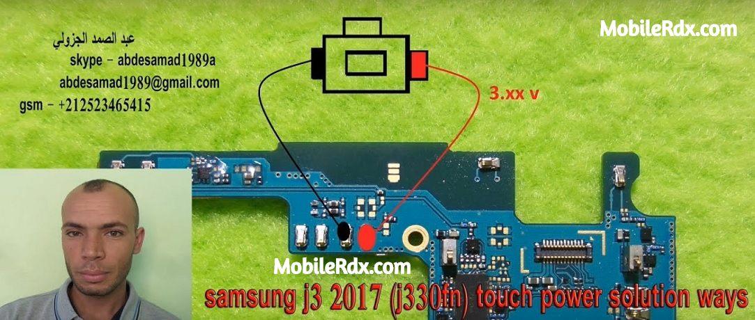 Samsung Galaxy J3 Pro J330F Power Button Ways On Off Key Jumper