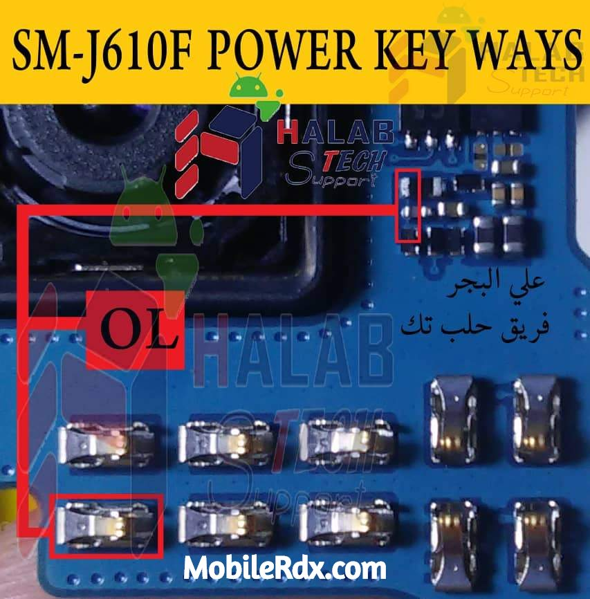 Samsung Galaxy J6 J610F Power Button Ways On Off Key Repair
