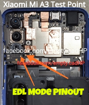 Xiaomi Mi A3 EDL Mode PINOUT Mi A3 Test Point