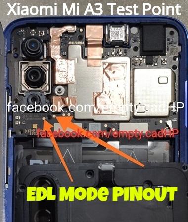 Xiaomi Mi A3 EDL Mode PINOUT Mi A3 Test Point