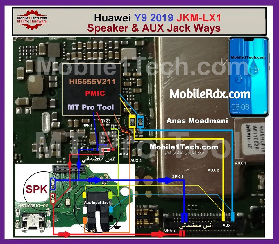 Huawei Y9 2019 Speaker Ways Headphone Connector Solution