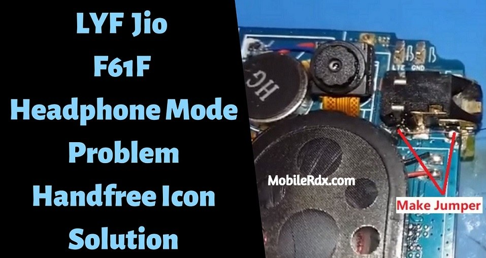 LYF Jio F61F Headphone Mode Problem Handfree Icon Solution