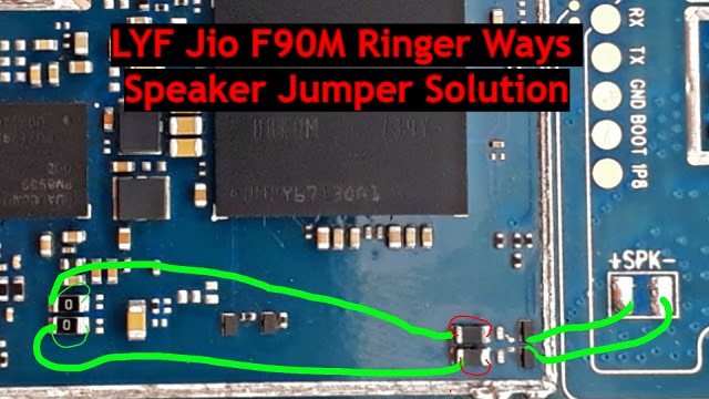 LYF Jio F90M Ringer Ways Speaker Jumper Solution
