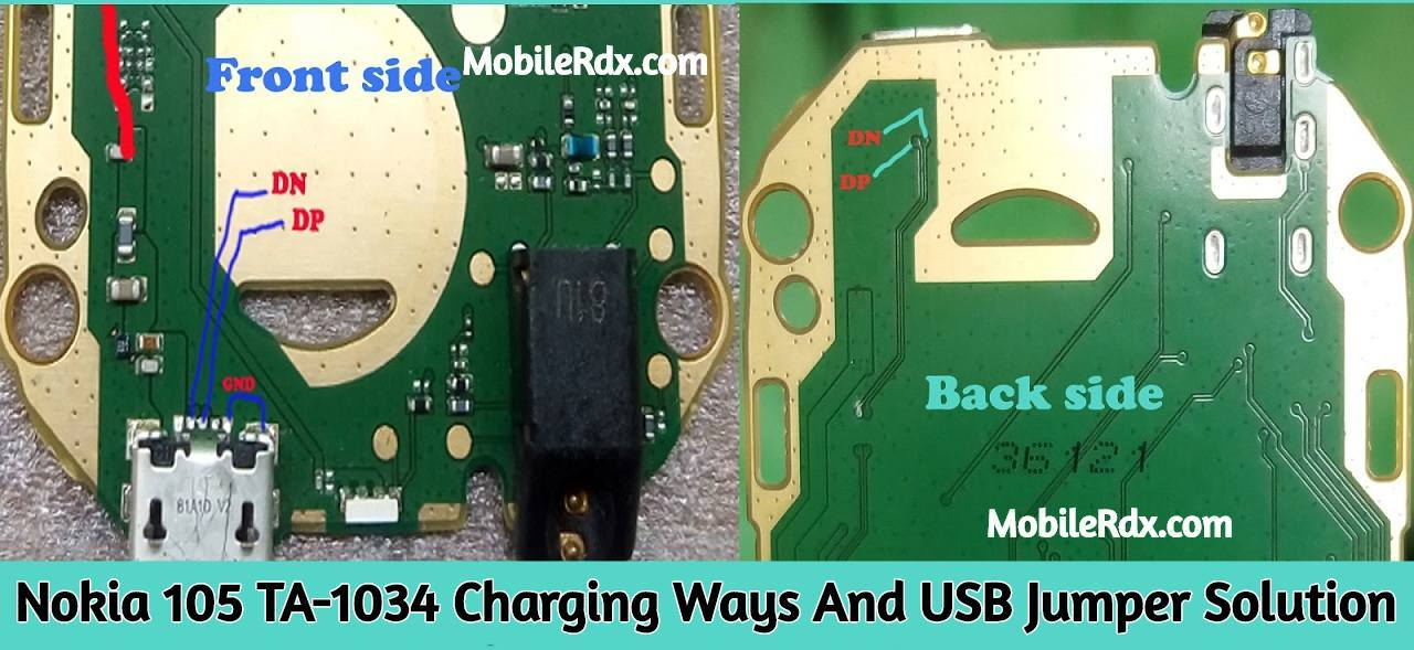 Nokia 105 TA 1034 Charging Ways And USB Jumper Solution