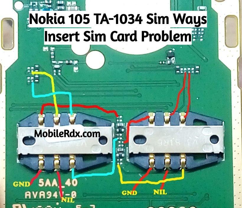 Nokia 105 TA 1034 Sim Ways Insert Sim Card Problem Solution