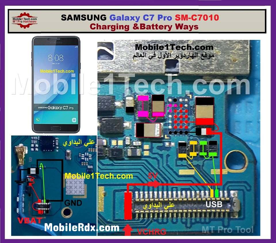 Samsung C7 Pro C7010 Charging Ways USB Problem Solution 1