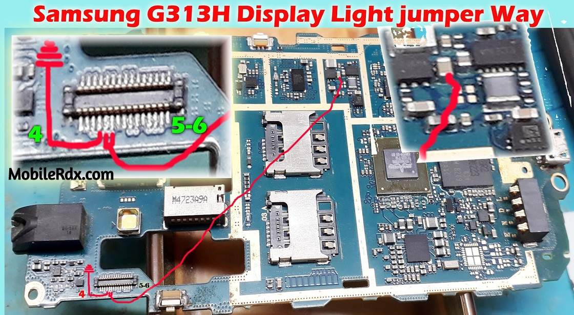 Samsung G313H Display Light Problem Jumper Solution