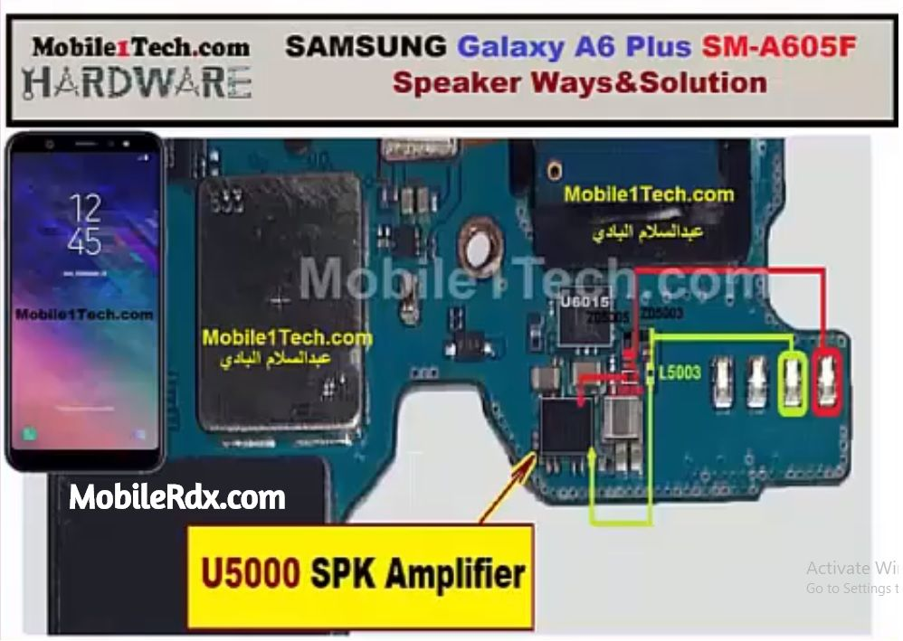 Samsung Galaxy A6 A605F Speaker Ways Audio Problem Solution
