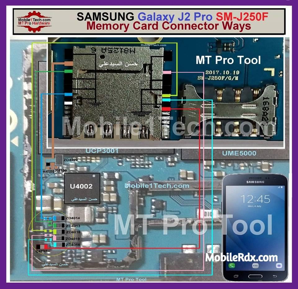 Samsung Galaxy J2 Pro J250F Memory Card Problem Repair Solution