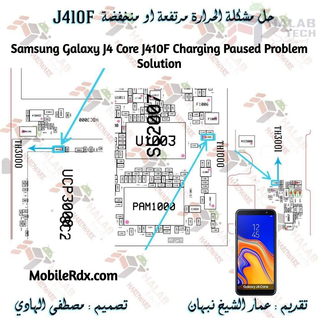 Samsung Galaxy J4 Core J410F Charging Paused Problem Solution