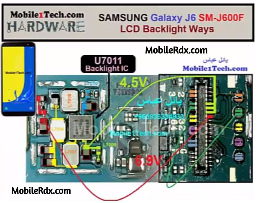 Samsung Galaxy J6 J600F Display Light Problem LCD Backlight Ways