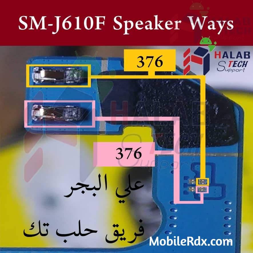 Samsung Galaxy J6 J610F Speaker Ways Ringer Jumper Solution