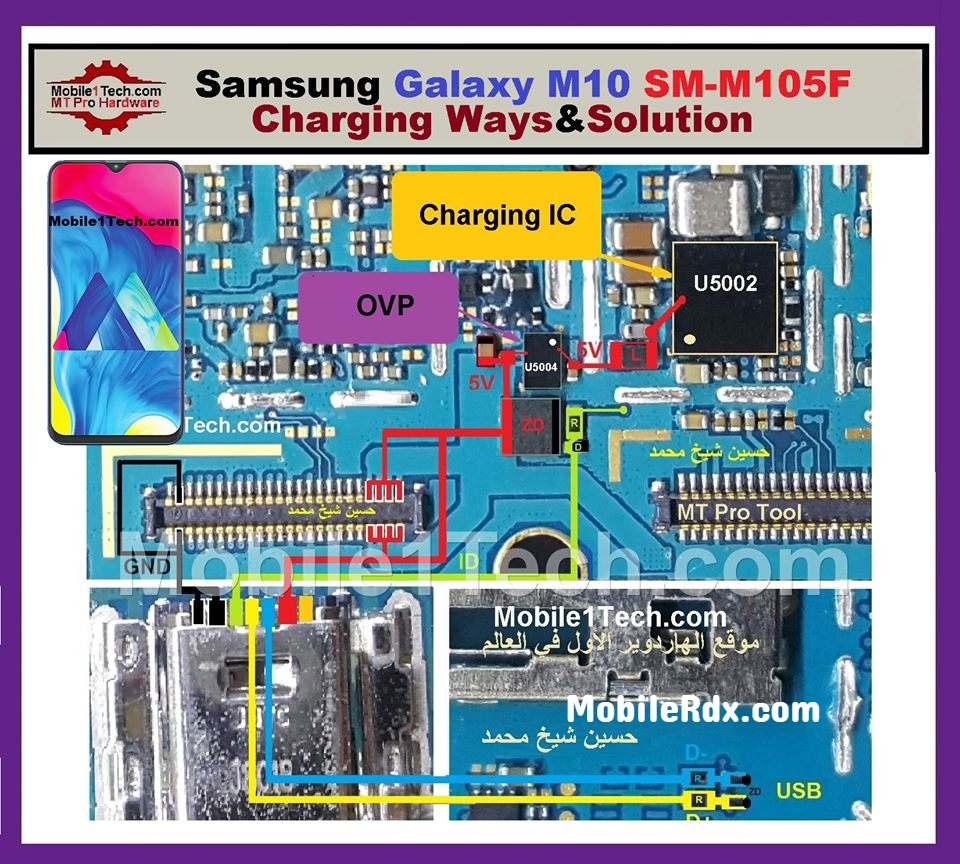 Samsung Galaxy M10 M105f Charging Ways And Usb Jumper Solution