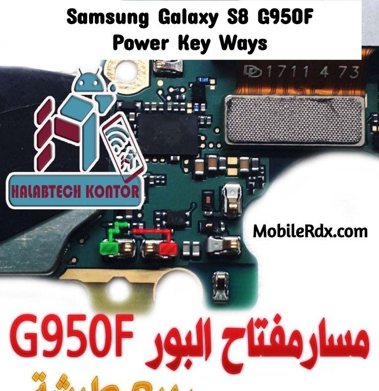 Samsung Galaxy S8 G950F Power Key Ways Power Button Jumper