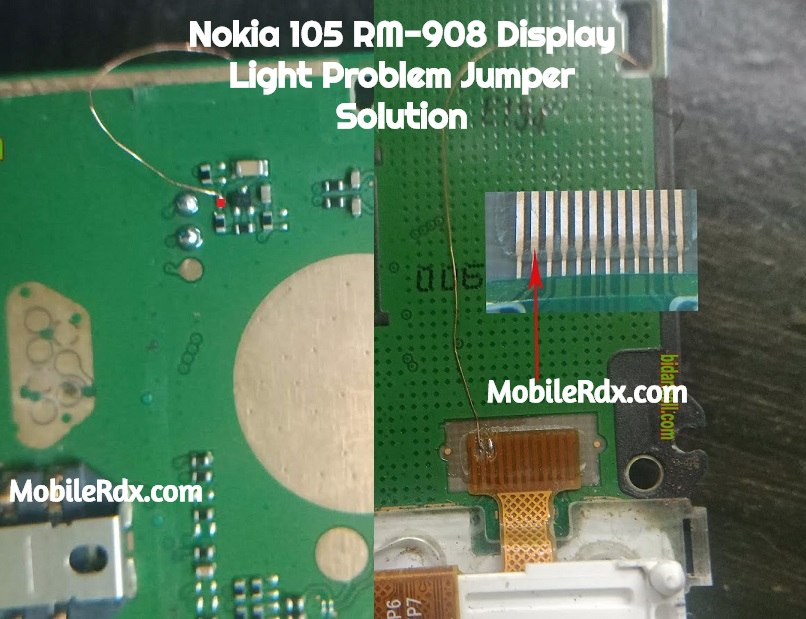 Nokia 105 RM 908 Display Light Ways LCD Light Jumper Solution