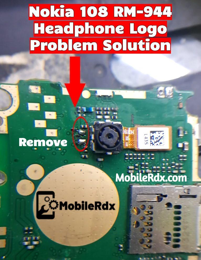 Nokia 108 RM 944 Headphone Logo Problem Solution