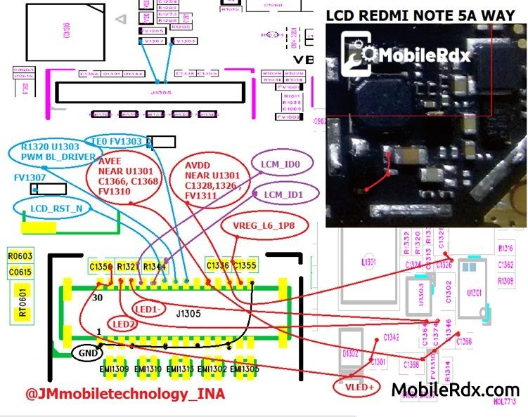 Redmi Note 5A LCD Light Ways Backlight Jumper Solution