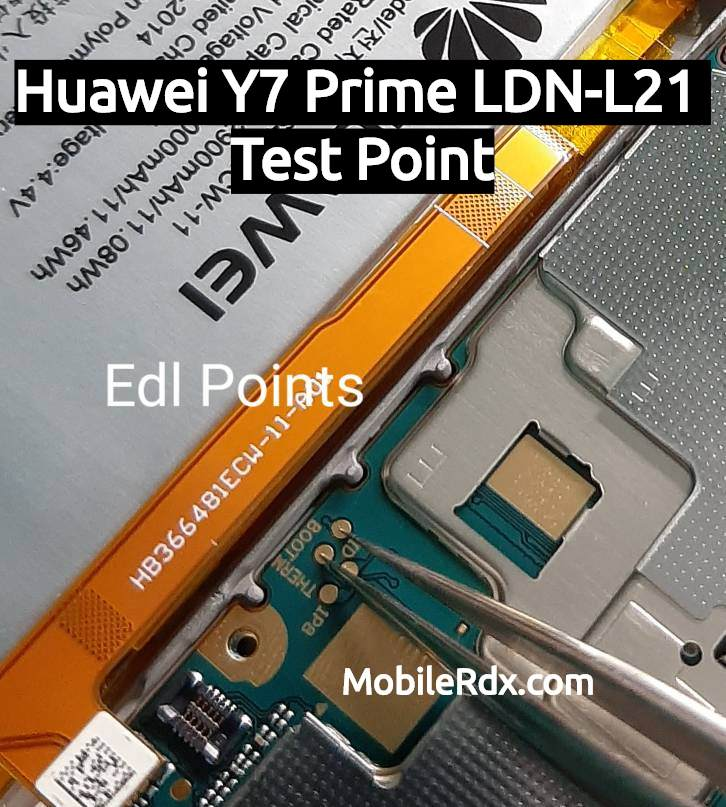 Huawei Y7 Prime LDN L21 test Point